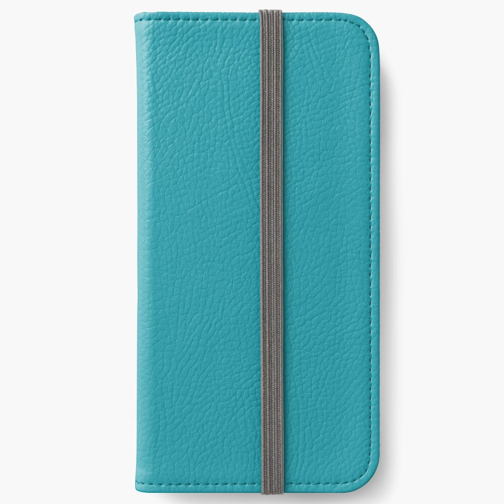 Teal / Light Sea Green einfarbig iPhone Flip-Case