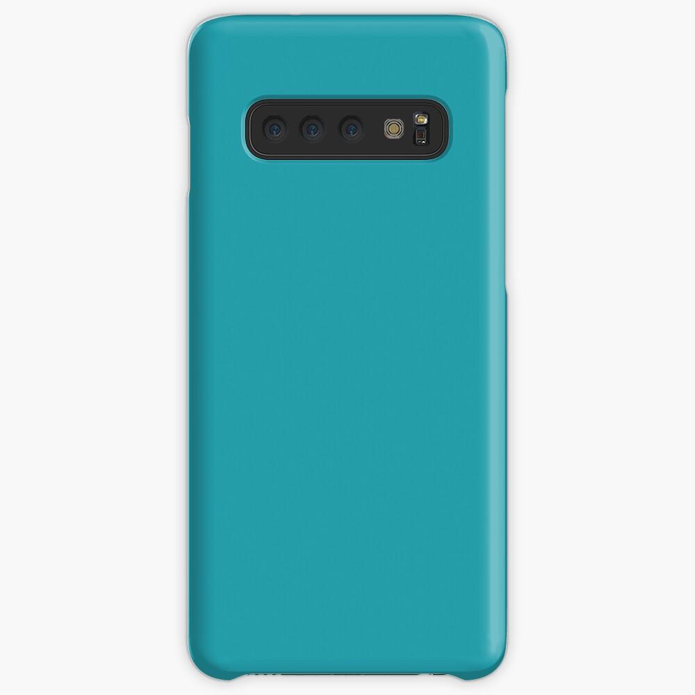Teal / Light Sea Green einfarbig Hülle & Klebefolie für Samsung Galaxy