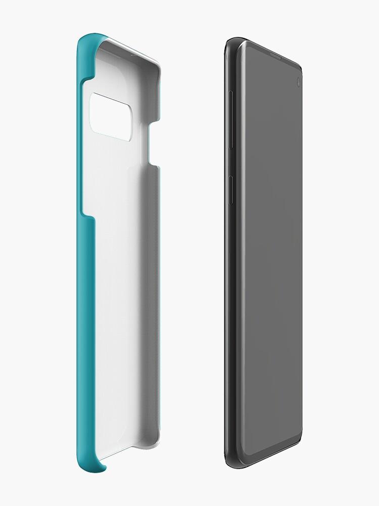 Alternative Ansicht von Teal / Light Sea Green einfarbig Hülle & Klebefolie für Samsung Galaxy