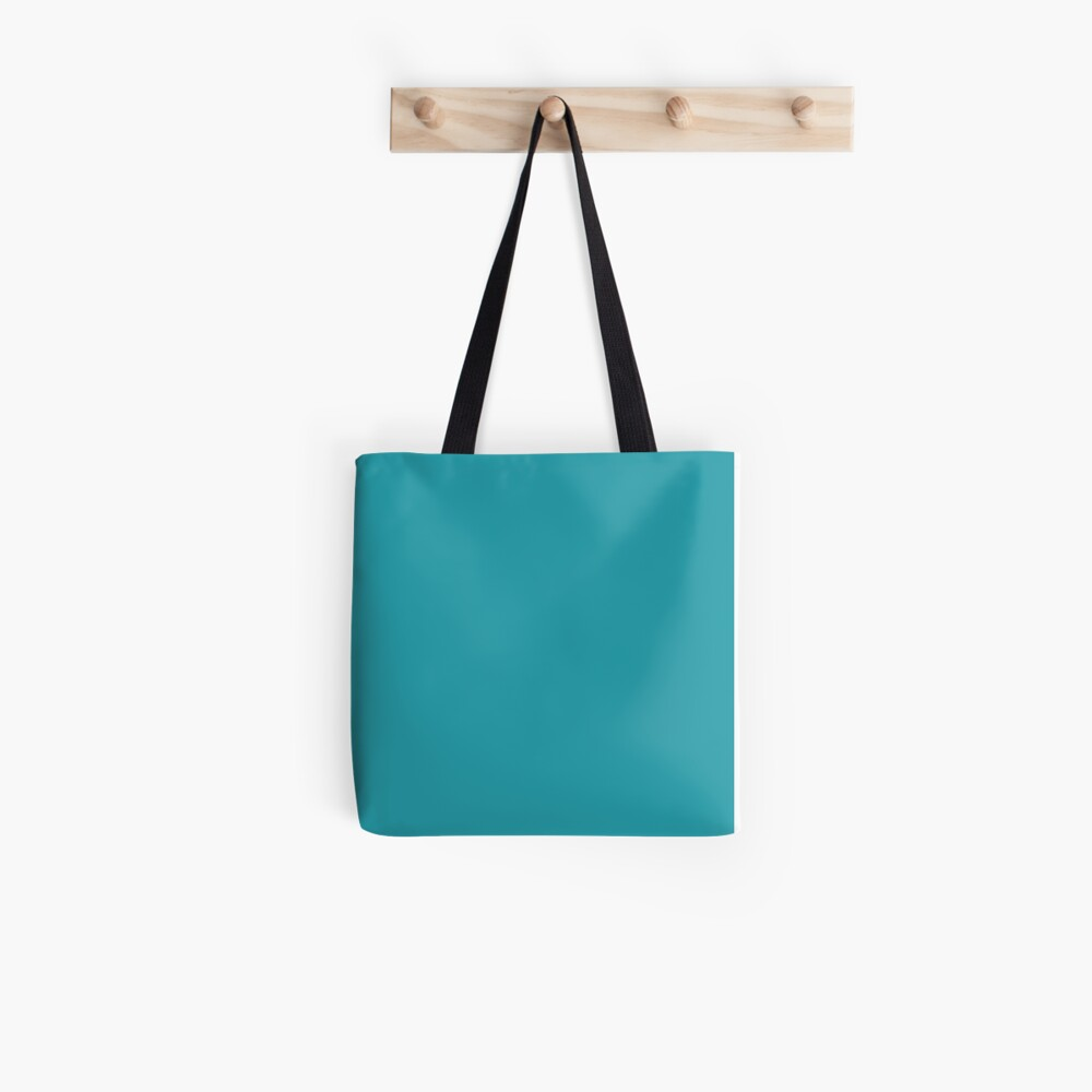 Teal / Light Sea Green einfarbig Tote Bag