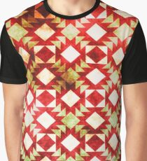 Crisscross Pattern Tribal  Graphic T-Shirt