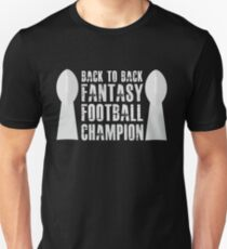 Back To Back Fantasy Football Champion Trophies T-Shirt