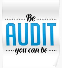 Be Audit You Can Be - Financial Accountant CPA Accrual - Funny Accountancy Gift Poster