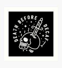 Lámina artística Muerte antes de Decaf