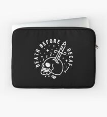 Death Before Decaf Laptop Sleeve