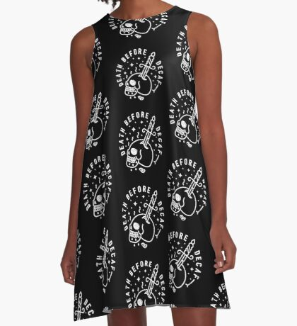 Death Before Decaf A-Line Dress