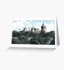 Château médiéval / Medieval castel Greeting Card