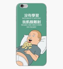 Bobby Hill - Without study make me become hungry iPhone Case