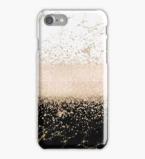 Elegant rose gold confetti marble design iPhone Case/Skin