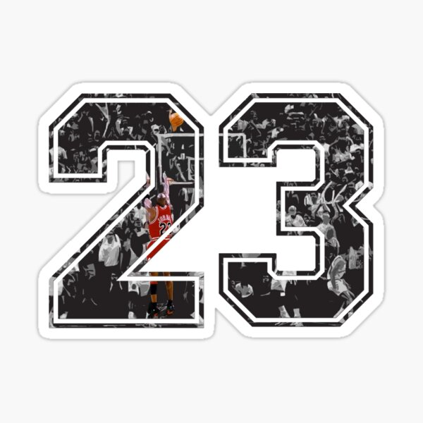 Michael Jordan 23 Pegatina