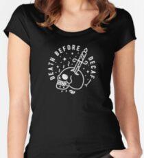 Camiseta entallada de cuello ancho Muerte antes de Decaf