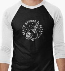 Tod vor Entkoffeinierung Baseballshirt für Männer