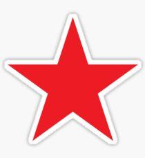 RED STAR, on Yellow Sticker