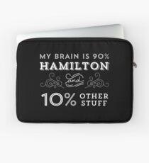 My Brain is 90% Hamilton Vintage T-Shirt from the Hamilton Broadway Musical - Aaron Burr Alexander Hamilton Gift Laptop Sleeve
