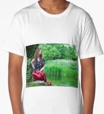 EllaRose in the style of the Pre-Raphaelite Long T-Shirt