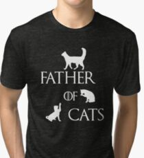 FATHER OF CATS Tri-blend T-Shirt