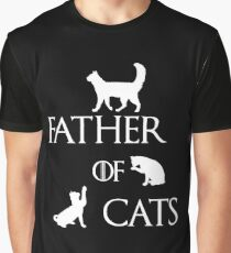 FATHER OF CATS Graphic T-Shirt