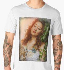The look of the Pre-Raphaelite. Model EllaRose. Men's Premium T-Shirt