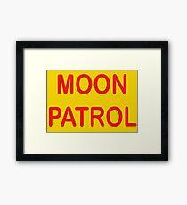 MOON PATROL Framed Print