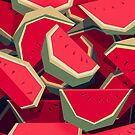 Too many watermelons by Yetiland