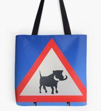 Warthog Warning Sign - Hogs About Tote Bag