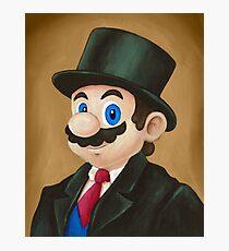 Fancy Mario Photographic Print