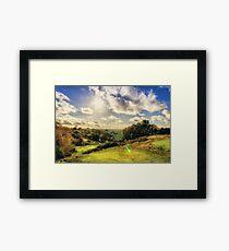 Sunlight Over The Valley Framed Print