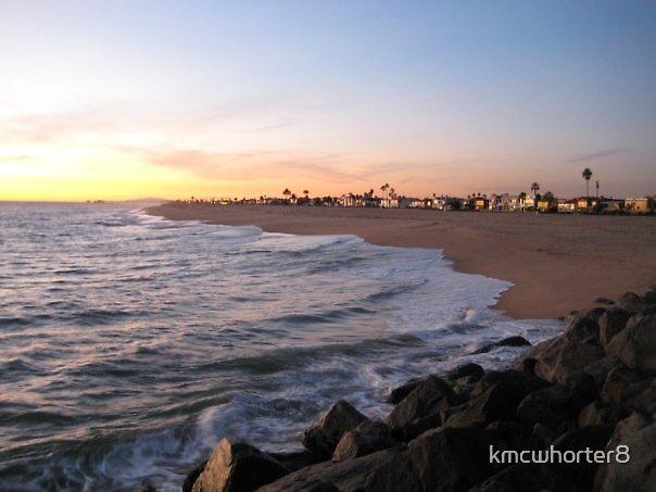 Newport beach at sunset by kmcwhorter8
