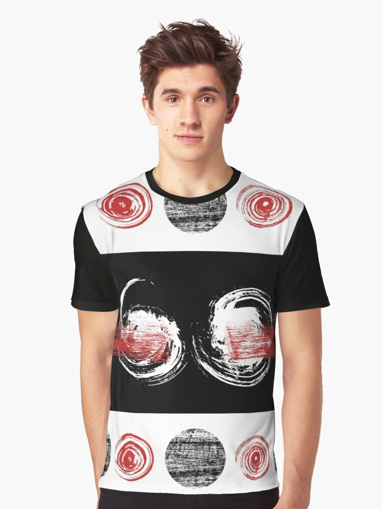 Cool Grungy Pattern Graphic T-Shirt Front