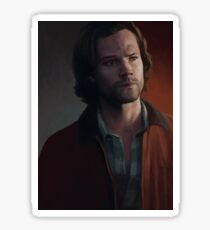 Sam Winchester. Red Jacket Sticker