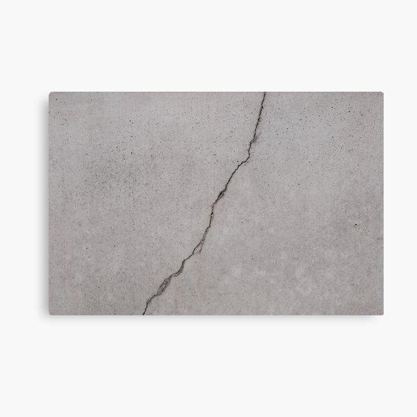 cracked concrete texture - cement  stone  Canvas Print