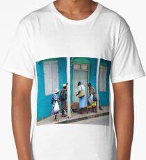 Carabbean Blue, Island of Barbados Long T-Shirt