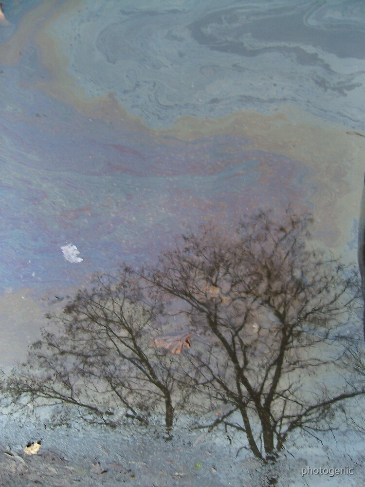 oil spill - a reflection by photogenic