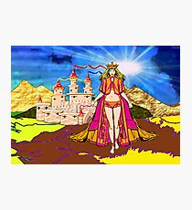 Princess Aurora (also known as Sleeping Beauty)  at Her Castle Photographic Print