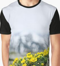 Mountain flowers in alpine meadow Graphic T-Shirt