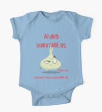 Sardonic Garlic Angry Vegetables - Eat Us If You Dare! Kids Clothes