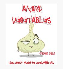 Sardonic Garlic Angry Vegetables - Eat Us If You Dare! Photographic Print