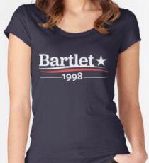 WEST WING President BARTLET 1998  White House Women's Fitted Scoop T-Shirt
