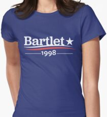 WEST WING President BARTLET 1998  White House Women's Fitted T-Shirt