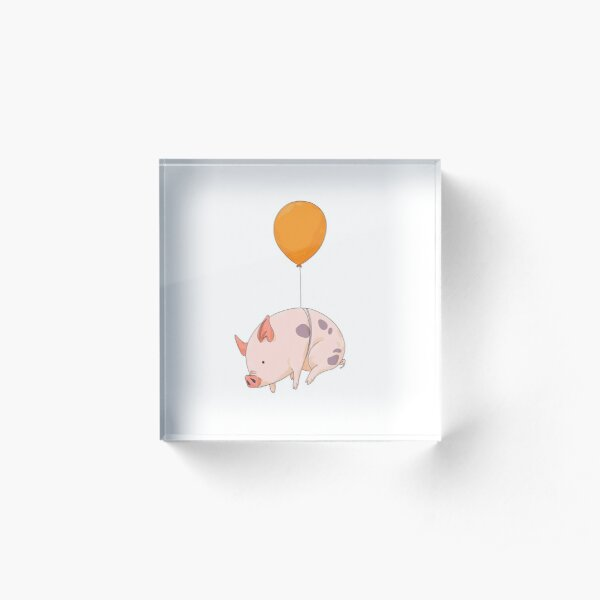 When Pigs Fly Acrylic Block