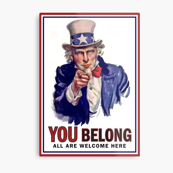 YOU BELONG Metal Print