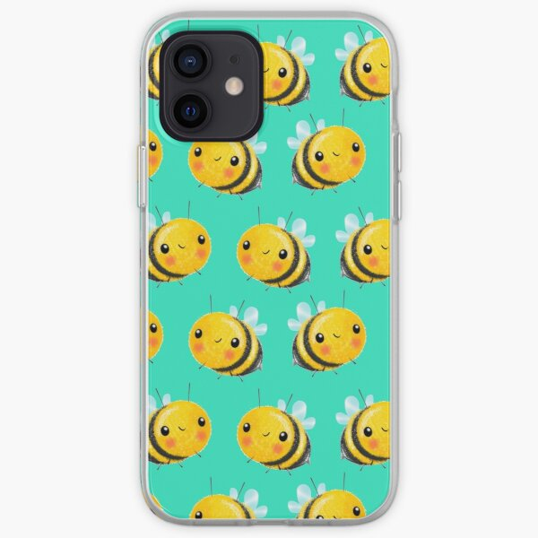 Bumble Bee Mint iPhone Soft Case
