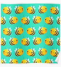 Bumble Bee Mint Poster