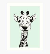 Tattooed Giraffe Art Print