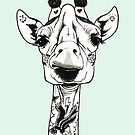 Tattooed Giraffe by PaperTigressArt