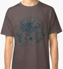 Giant Sea Monster Teal   Myths Classic T-Shirt
