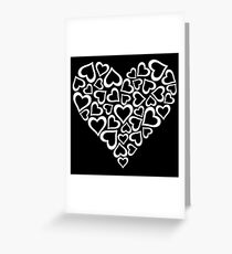 White Hearts Heart Greeting Card