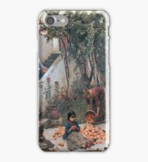 John William Waterhouse - The Orange Gatherers iPhone Case/Skin