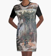 John William Waterhouse - The Orange Gatherers Graphic T-Shirt Dress