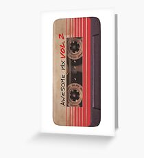 Awesome Mix vol.2 Greeting Card